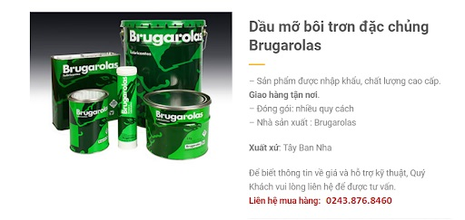 Dầu mỡ bôi trơn đặc chủng Brugarolas