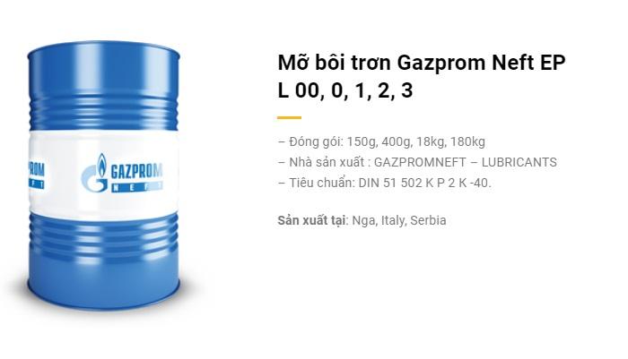 Mỡ bôi trơn Gazprom Neft EP L 00, 0, 1, 2, 3